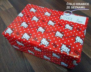Krabice od bot, vzorový dárek, popis